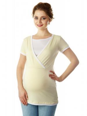 Блузка Mum`s Era. Цвет: кремовый, белый