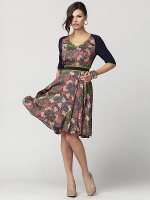 Платье E.Levy. Цвет: бордовый