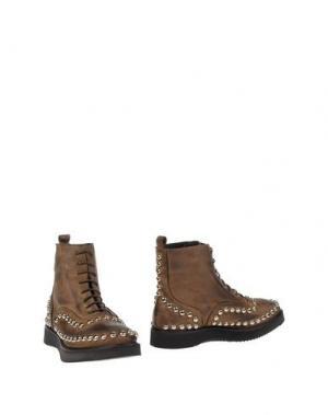 Полусапоги и высокие ботинки FABRIZIO CHINI. Цвет: хаки