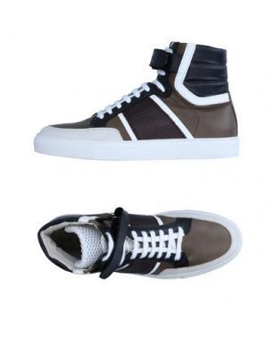 Высокие кеды и кроссовки YES LONDON. Цвет: серый