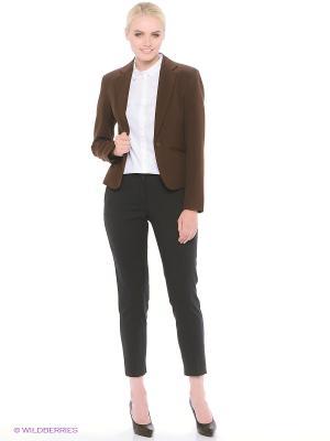 Пиджак Oodji. Цвет: коричневый