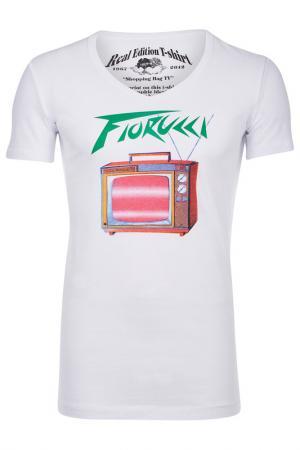 Футболка Fiorucci. Цвет: белый