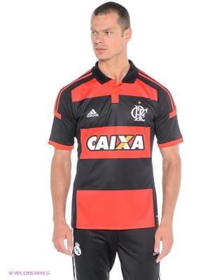 Футболка-поло Crf H Jsy Adidas. Цвет: черный, красный