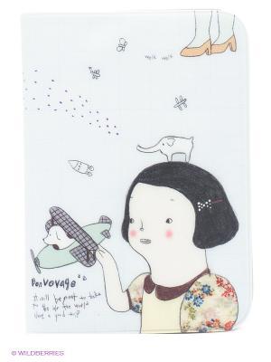 Обложка для паспорта Elephant Kawaii Factory. Цвет: светло-голубой