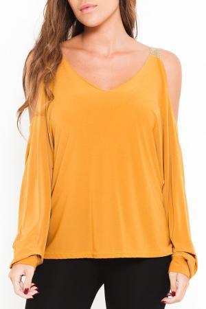Блуза SHES SECRET SHE'S. Цвет: желтый