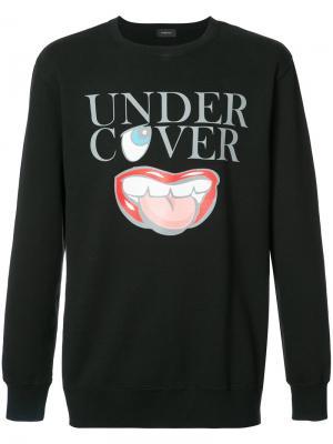 Толстовка с принтом логотипа Undercover. Цвет: чёрный