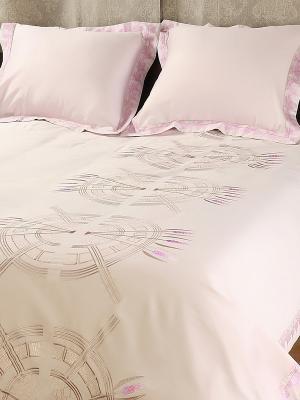 Комплект постельного белья, Роял солтворкс Helgi Home. Цвет: бледно-розовый