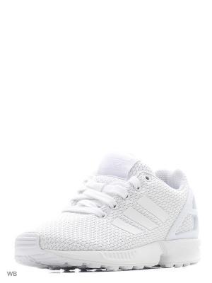 Кроссовки дет. спорт. ZX FLUX J FTWWHT/FTWWHT/FTWWHT Adidas. Цвет: белый