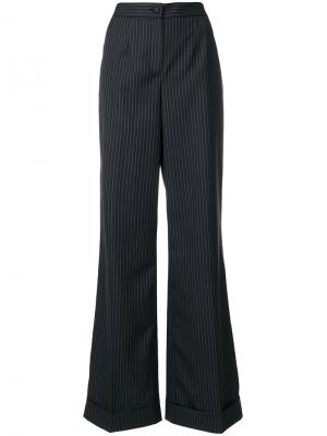 Расклешенные брюки в полоску Dolce & Gabbana. Цвет: серый