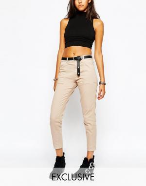 Northmore Denim Свободные джинсовые брюки карго. Цвет: stone