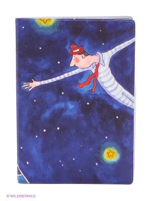 Обложка для автодокументов Акробаты в воздухе Mitya Veselkov. Цвет: фиолетовый
