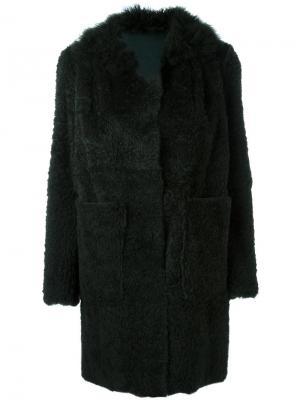Пальто с карманами Salvatore Santoro. Цвет: зелёный