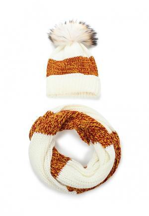 Комплект шапка и шарф Avanta. Цвет: белый
