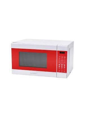 Микроволновая печь. OURSSON. Цвет: красный
