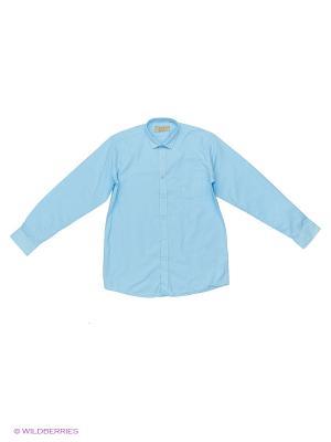 Рубашка Tsarevich. Цвет: голубой