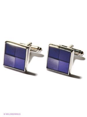 Запонки Классика в фиолетовом Mitya Veselkov. Цвет: синий, серебристый, фиолетовый