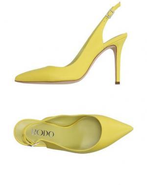 Туфли RODO. Цвет: желтый