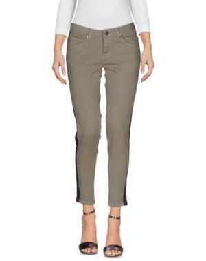 Джинсовые брюки BOLONGARO TREVOR. Цвет: зеленый-милитари