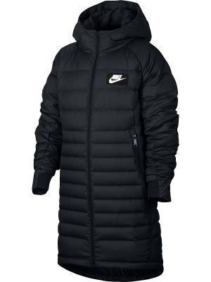 Пуховик B NSW PRKA HD DWN FILL Nike. Цвет: черный, белый