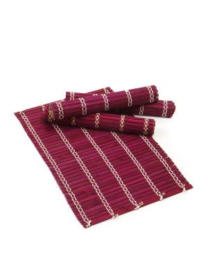 Салфетка из бамбука ,4 штук DAVANA. Цвет: фиолетовый