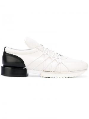 Кроссовки с эластичными шнурками A.F.Vandevorst. Цвет: белый