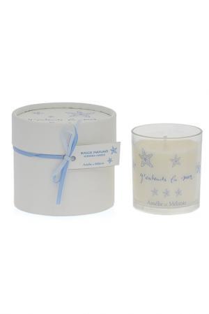 Ароматизированная свечка Amelie et Melanie. Цвет: белый