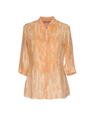Pубашка BARBA Napoli. Цвет: абрикосовый