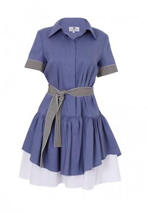 Платье Bergamoda. Цвет: синий