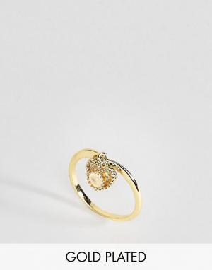 Rock 'N' Rose Кольцо с лунным камнем для родившихся в июне N. Цвет: золотой