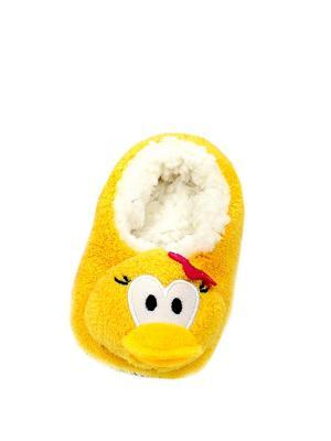 Носки-тапочки HOBBY LINE. Цвет: желтый