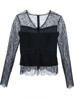 Кружевная блузка Yigal Azrouel. Цвет: чёрный