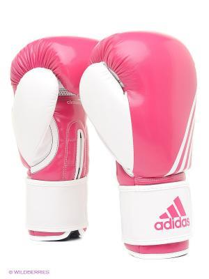 Перчатки боксерские Fitness Adidas. Цвет: розовый, белый