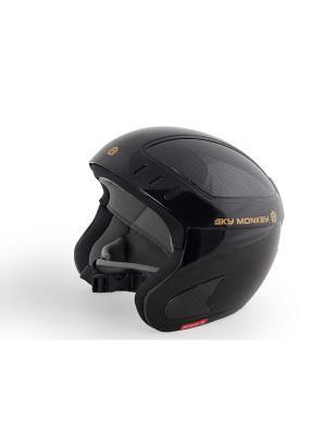 Шлем горнолыжный Sky Monkey Shiny Black. Цвет: черный, серый