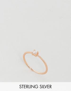 Kingsley Ryan Кольцо из позолоченного серебра с камнем. Цвет: золотой