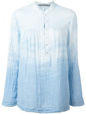 Рубашка с узором тай-дай Raquel Allegra. Цвет: синий
