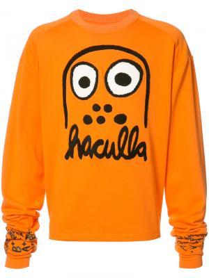Толстовка с принтом логотипа Haculla. Цвет: жёлтый и оранжевый