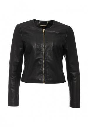 Куртка кожаная Ted Baker London. Цвет: черный