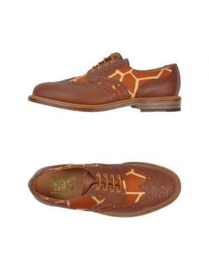 Обувь на шнурках MARK MCNAIRY. Цвет: коричневый