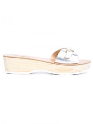 Сандалии с эффектом металлик Ancient Greek Sandals. Цвет: металлический