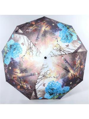 Зонт Magic Rain. Цвет: темно-коричневый, белый, голубой