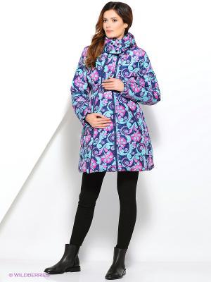 Куртка Laura Bruno. Цвет: синий, розовый