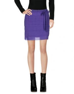 Мини-юбка LIST. Цвет: фиолетовый
