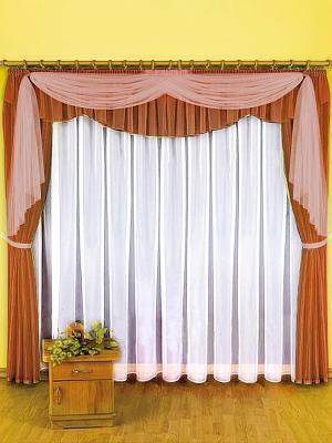 Комплект штор ZLATA KORUNKA. Цвет: светло-коричневый