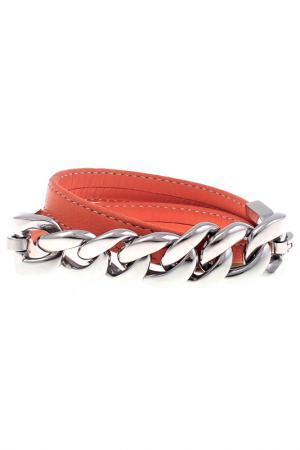 Браслет Qudo. Цвет: оранжевый, серебристый