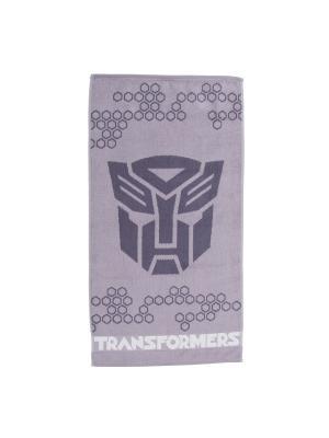 Полотенце махровое Трансформеры Transformers. Цвет: серый