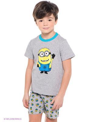 Пижама Миньоны Despicable Me, Minion Made. Цвет: серый, голубой, желтый