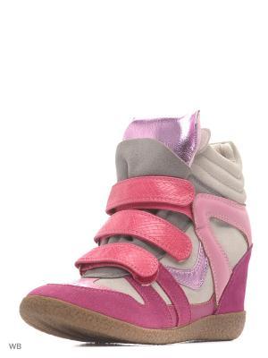 Сникеры BERKONTY. Цвет: розовый