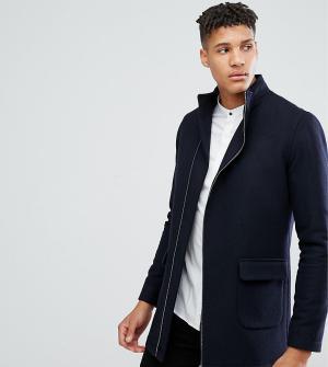 Noak Пальто с асимметричным воротником-стойкой TALL. Цвет: темно-синий