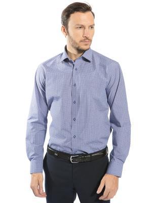 Рубашка GroStyle. Цвет: синий, белый