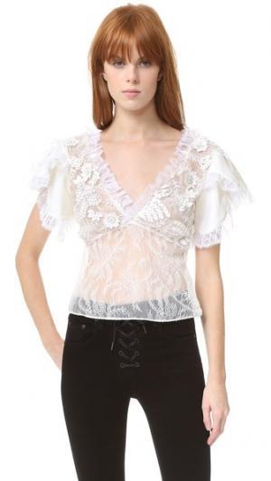Кружевная блуза Rodarte. Цвет: белый